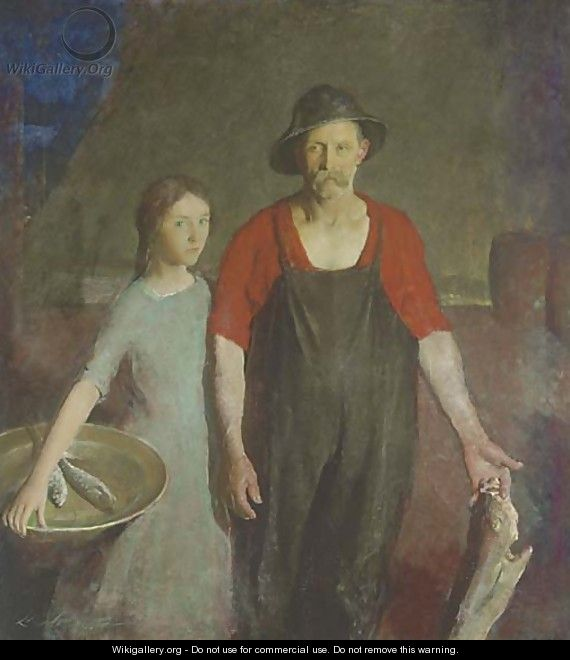 Fisherman and his Daughter - Charles Webster Hawthorne