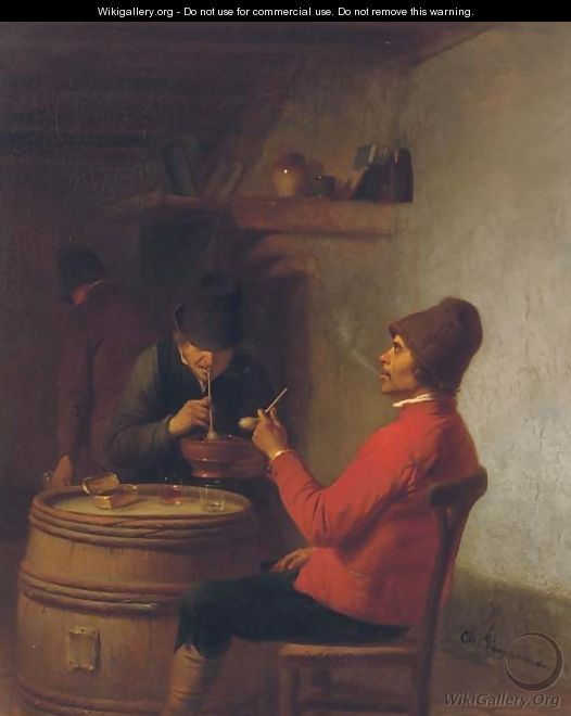 Smoking in the tavern - Charles Venneman