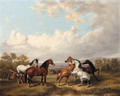 Horses in a Meadow - Charles Towne