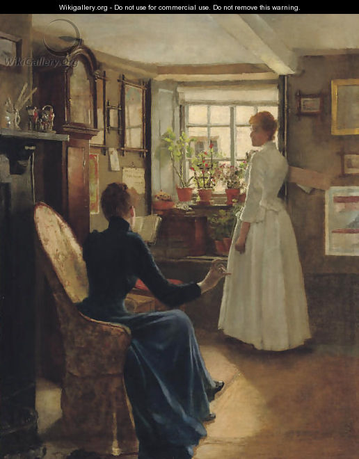 Reading aloud - Charles William Bartlett