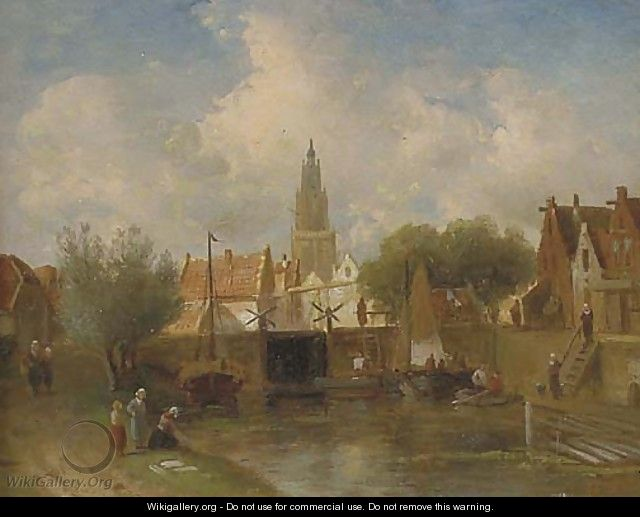 Summer in a Dutch town - Charles Henri Leickert
