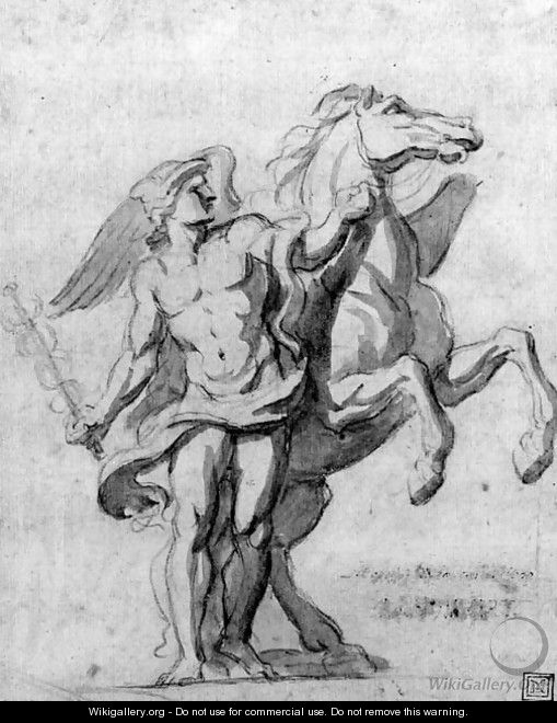 Mercury and Pegasus - Charles Le Brun