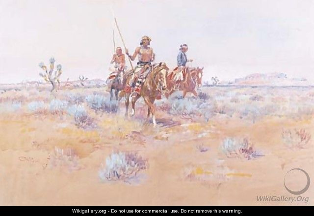 The Navajos - Charles Marion Russell