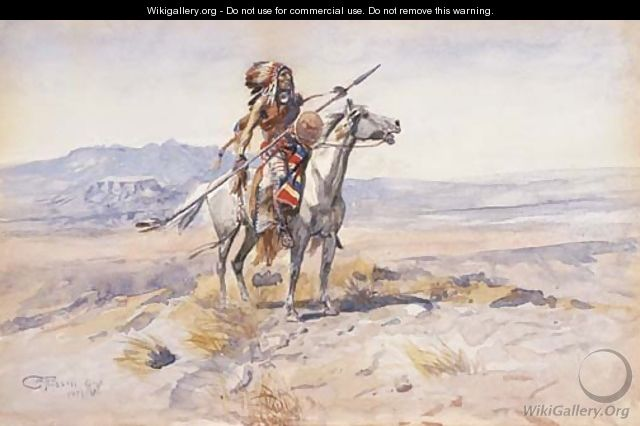 Indian on Horseback 2 - Charles Marion Russell