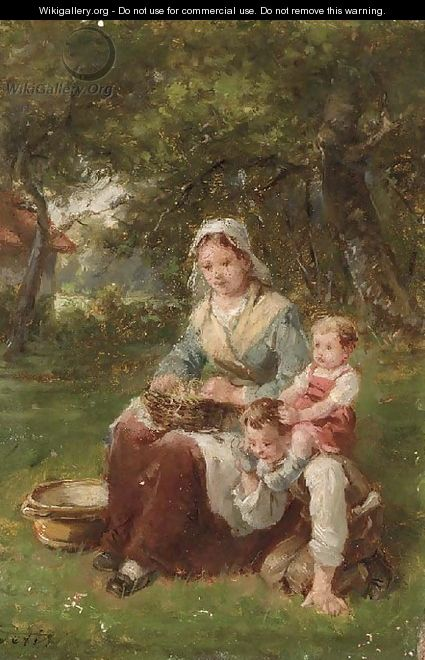 At play in the garden - Charles Petit