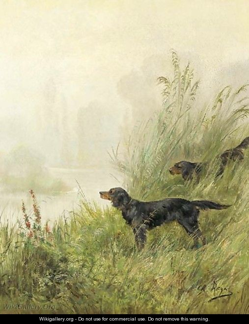 Setters in the marshes - Charles R. Reyne