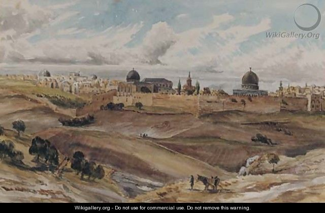 Jerusalem from the Mount of Olives - Charles Gilbert Heathcote