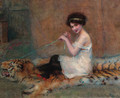 A young girl playing on a rug - Baudry Paul