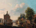 Morning on the canal - Carel Jacobus Behr