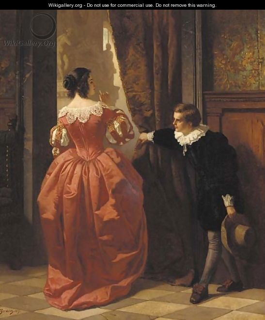 Curtains Ideas curtain paintings : Behind the curtain - Carl Ludwig Friedrich Becker - WikiGallery ...