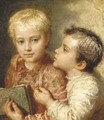Two young boys - Karl Wilhelm Friedrich Bauerle