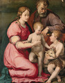 The Holy Family with the Infant Saint John the Baptist - Carlo Portelli da Loro