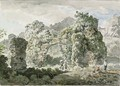 A ruined aqueduct in front of a villa on the road to Ariccia - Carlo Labruzzi