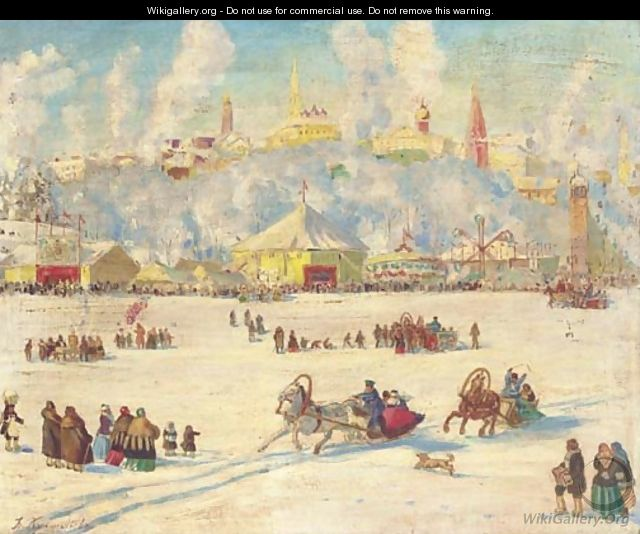 Winter fair - Boris Kustodiev