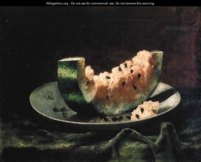 Still Life with Watermelon - Carducius Plantagenet Ream