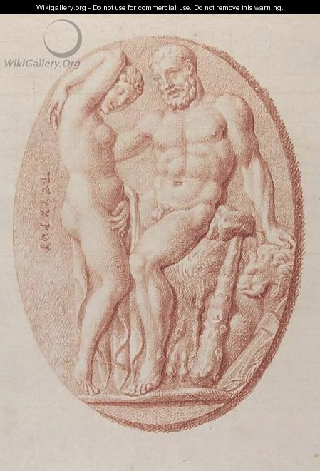 Three Roman cameos Hercules and a nymph - Bernard Picart