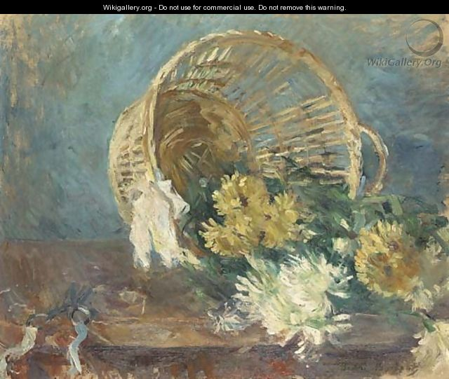 Chrysanthemes or Corbeille renversee - Berthe Morisot