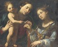 The Mystic Marriage of Saint Catherine - Bolognese School
