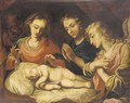 The Madonna and Child with two Angels - Bolognese School