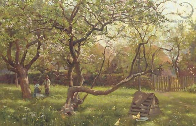 In the orchard - William Teulon Blandford Fletcher