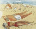 The Sun-bathers - Boris Dmitrievich Grigoriev