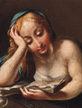 The Penitent Magdalen 2 - Bolognese School