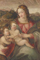 The Madonna and Child with the Infant Saint John the Baptist in a landscape - Florentine School