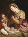 The Madonna and Child with the Infant Saint John the Baptist - Florentine School