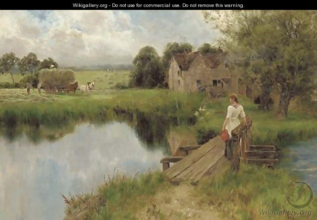 By the millpond - Florence A. Saltmer