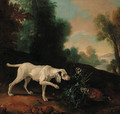 A pointer with a pheasant in a landscape - (after) Jean-Baptiste Oudry