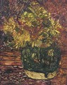 Gemberpot met doronicums flowers in a ginger jar - Floris Verster