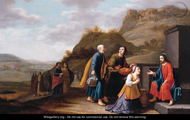 Christ and the woman of Samaria - Floris Gerritsz. van Schooten