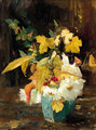 Autumn flowers in a ginger jar - Floris Arntzenius