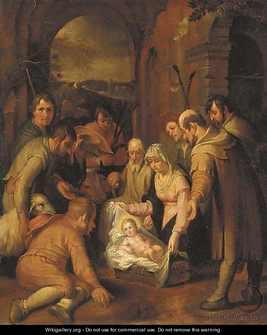 The Adoration of the Shepherds 4 - (after) Abraham Bloemaert