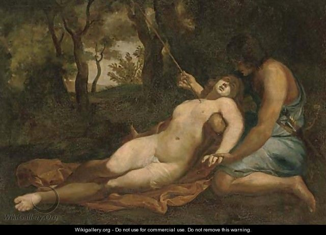 Cephalus and Procris - (after) Abraham Bloemaert