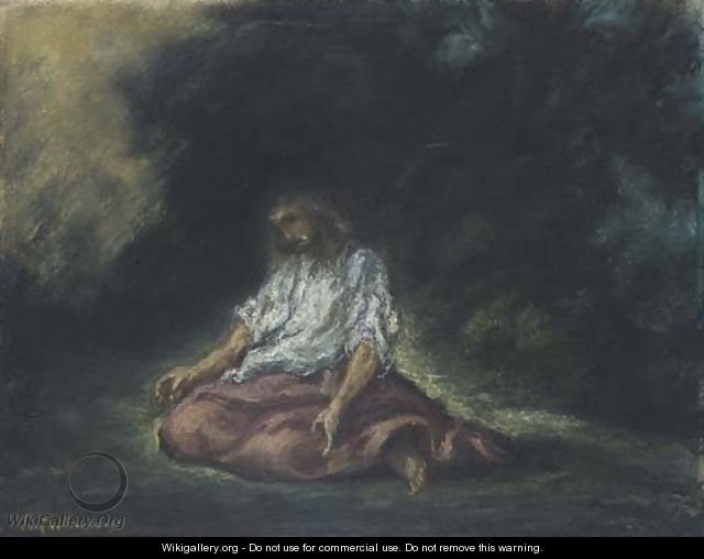 Christ in the Garden of Gethsemane - Eugene Delacroix