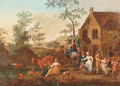 Landscapes with Peasants Dancing - Flemish School