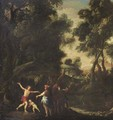 A mythological scene in a wooded landscape - Flemish School