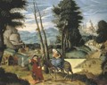 The Rest on the Flight into Egypt - Flemish School