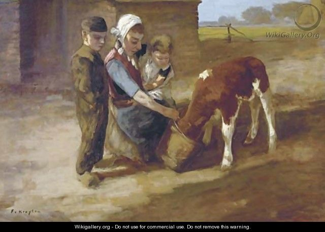 Feeding the little calf - Fedor Van Kregten