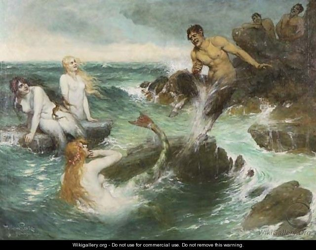 The Mermaids - Ferdinand Leeke