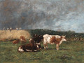 Les Meules, vaches au pturage (Haystacks, Cows in the Pasture) - Eugène Boudin