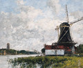 Dordrecht, moulin sur les bords de la Meuse (Dordrecht, Mill on the Banks of the Meuse) - Eugène Boudin