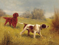 A pointer and a setter on the scent - Eugene Petit