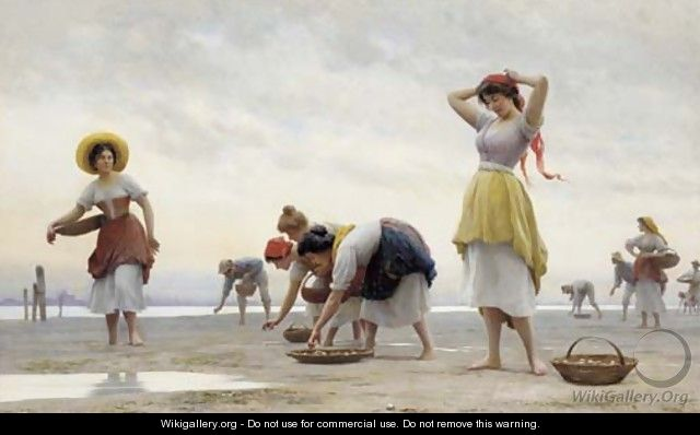 The Mussel Gatherers - Eugene de Blaas