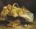 Grapes in a wicker basket - Eugene Henri Cauchois