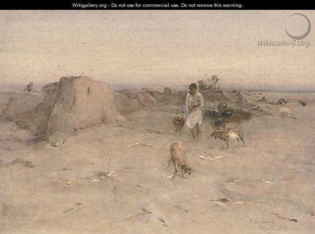 An Egyptian goatherder - Erskine E. Nicol