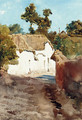 A cottage near Teignmouth - Ettore Roesler Franz