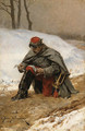 The wounded soldier - Etienne Prosper Berne-Bellecour