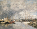 Dieppe, Le port (The Port of Dieppe) - Eugène Boudin
